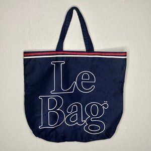 Vintage Le Bag Extra Large Tote Bag Red White Blue